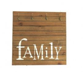 101617 - LMN PLACA FAMILY NATURAL COM GANCHOS